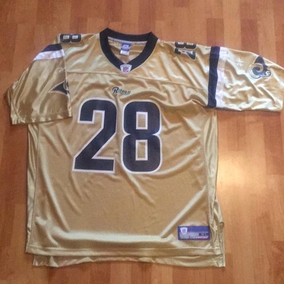 a91b3897 Faulk Rams Rare gold Jersey XL